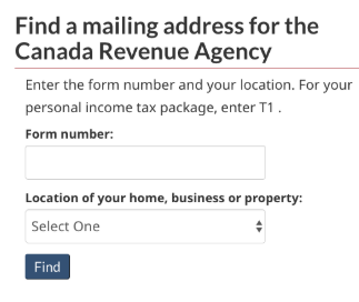 CRA postal code lookup success.